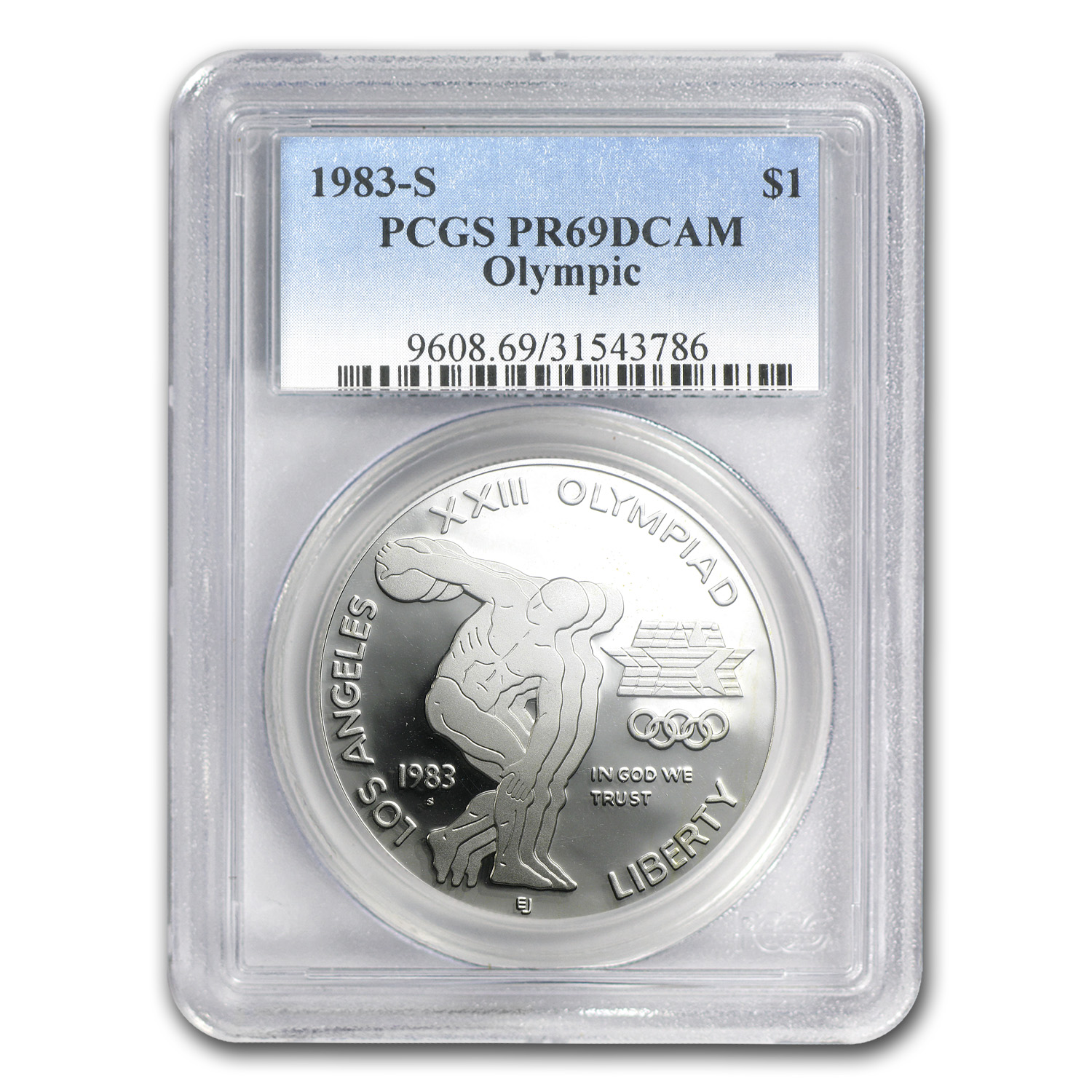 1983-S Olympic $1 Silver Commemorative PR-69 PCGS
